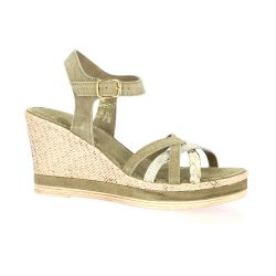 Exit Nu pieds cuir velours taupe