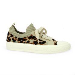 Reqins Baskets toile leopard