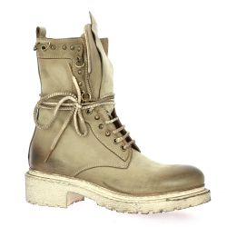 Metisse Boots cuir nubuck taupe