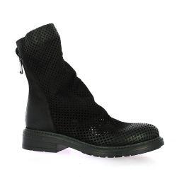 Metisse Boots cuir nubuck noir