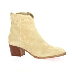 Pao Boots cuir velours beige