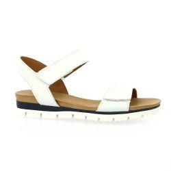 Creator Nu pieds cuir blanc