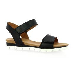 Creator Nu pieds cuir noir