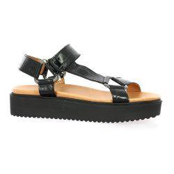 We do Nu pieds cuir croco noir