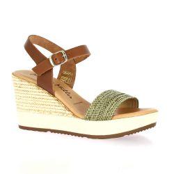 Patricia miller Nu pieds cuir kaki