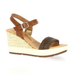 Patricia miller Nu pieds cuir marron