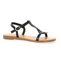 Pao Nu pieds cuir noir