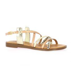 Pao Nu pieds cuir naturel