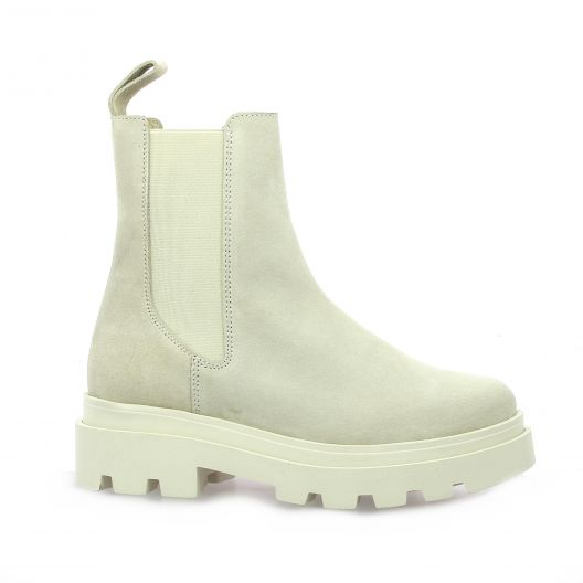 So send Boots cuir velours beige