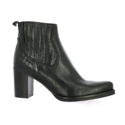 Spaziozero Boots cuir python noir