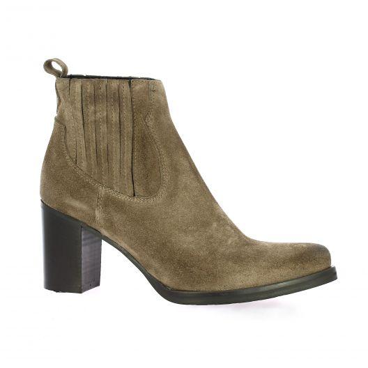 Spaziozero Boots velours leopard taupe
