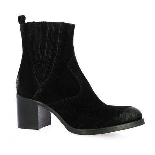 Spaziozero Boots cuir velours noir