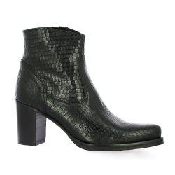 Spaziozero Boots cuir serpent noir