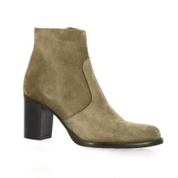 Spaziozero Boots cuir velours taupe