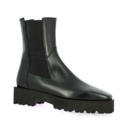 Fremilu Boots cuir noir