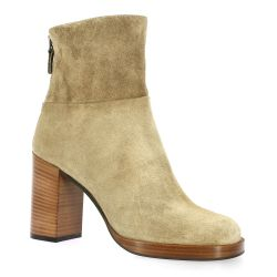 Fremilu Boots cuir velours taupe