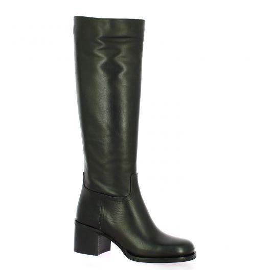 Fremilu Bottes cuir noir