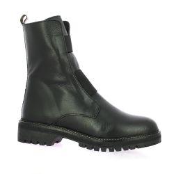 Reqins Boots cuir noir
