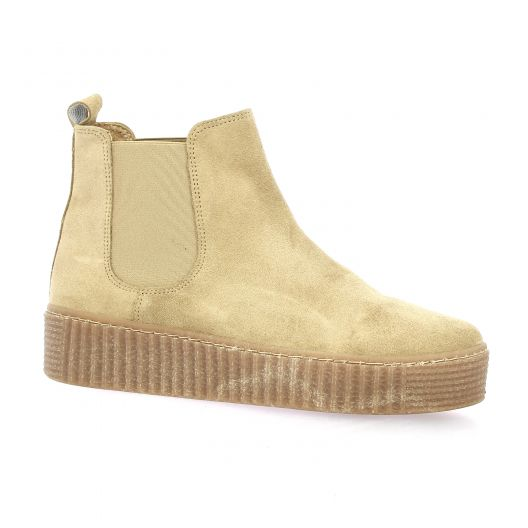 Exit Boots cuir velours taupe