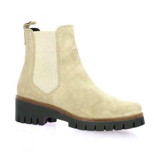 Exit Boots cuir velours beige