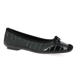 Reqins Ballerines cuir vernis noir