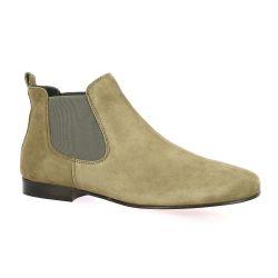 Reqins Boots cuir velours vison