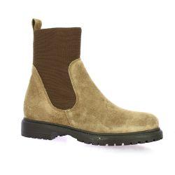 Reqins Boots cuir velours beige