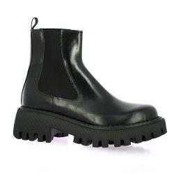 Paoyama Boots cuir glacé noir