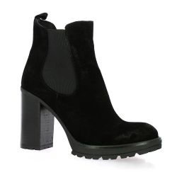 Paoyama Boots cuir velours noir