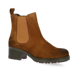We do Boots cuir velours tabac