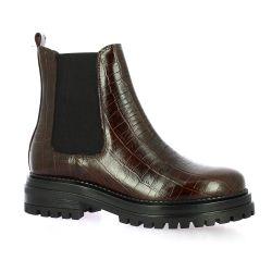 Impact Boots cuir croco cognac