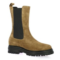 Impact Boots cuir velours camel