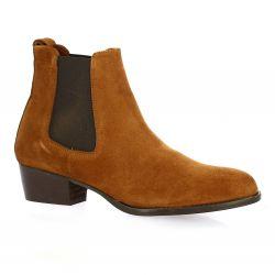 Sms Boots cuir velours cognac