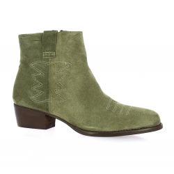 Sms Boots cuir velours kaki