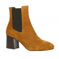 Sofia costa Boots cuir velours cognac