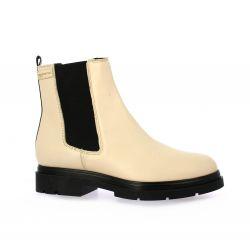 Les tropeziennes Boots cuir beige