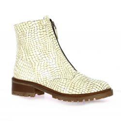 So send Boots cuir serpent beige