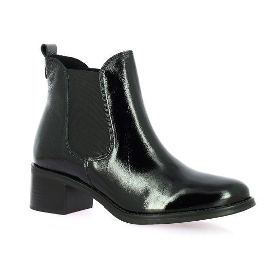 We do Boots cuir vernis noir