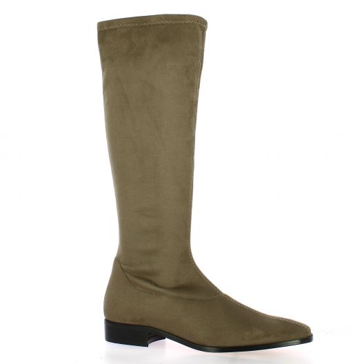Pao Bottes stretch velours taupe