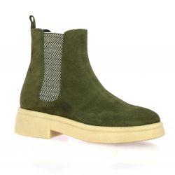 Spaziozero Boots cuir velours kaki