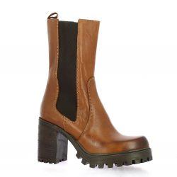 Spaziozero Boots cuir cognac