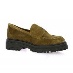 Ngy Mocassins cuir velours kaki