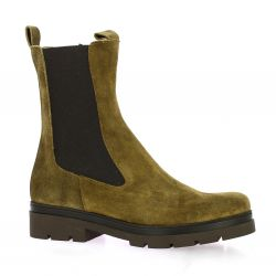 Ngy Boots cuir velours kaki
