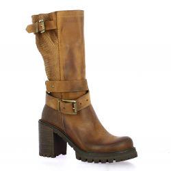 Pao Boots cuir nubuck cognac