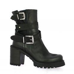 Pao Boots cuir nubuck noir