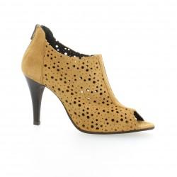 Vidi studio Low boots cuir velours camel