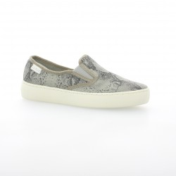 Palladium Baskets toile serpent gris
