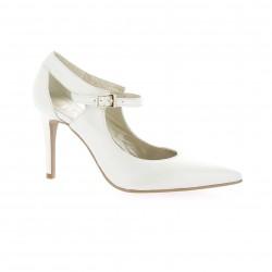 Brenda zaro Nu pieds cuir blanc