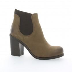 Boots cuir nubuck taupe Nuova riviera