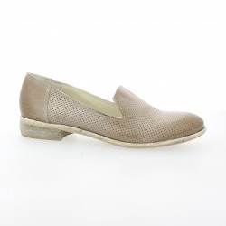 Pao Baskets cuir taupe